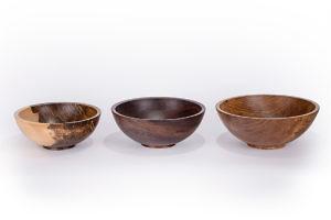 Handmade wood salad bowls 11, 12, & 13 inches